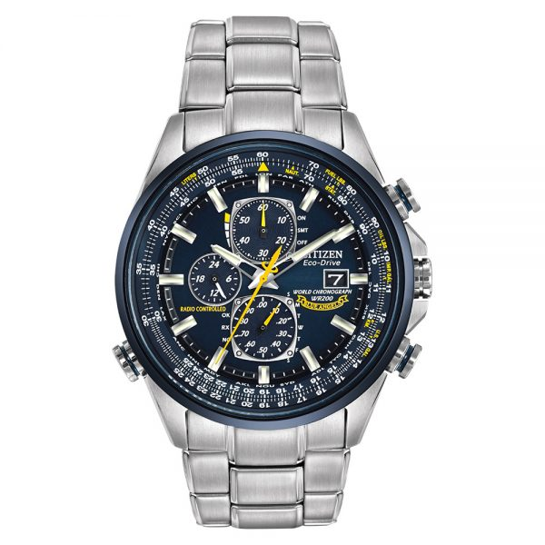 Citizen Eco-Drive World Chronograph Blue Angels Edition AT8020-54L