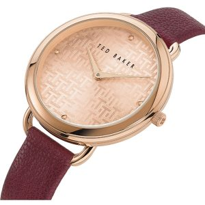 Ρολόι Ted Baker Hettie Rose Gold/Bordeaux - BKPHTF903
