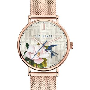 Ρολόι Ted Baker Phylipa Rose Gold/Flowers – BKPPFF901