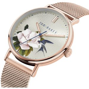 Ρολόι Ted Baker Phylipa Rose Gold/Flowers - BKPPFF901